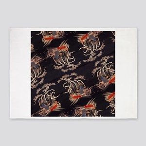 japanese tattoo koi fish 5'x7'Area Rug