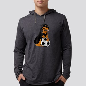 Funny Rottweiler Soccer Long Sleeve T-Shirt