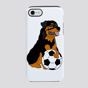 Funny Rottweiler Soccer iPhone 8/7 Tough Case