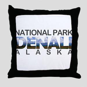 Denali - Alaska Throw Pillow