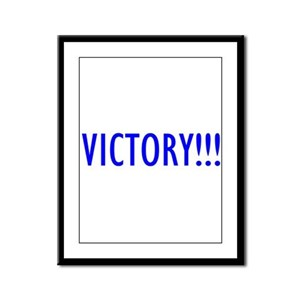 """Victory!!!"" Framed Panel Print"