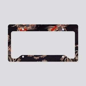 japanese tattoo koi fish License Plate Holder