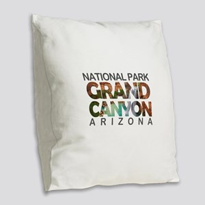 Grand Canyon - Arizona Burlap Throw Pillow