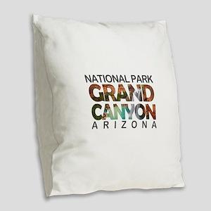 Grand Canyon - Arizona Burlap Throw Pillow