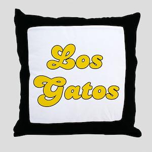 Retro Los Gatos (Gold) Throw Pillow