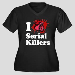 i love serial killers! Women's Plus Size V-Neck Da