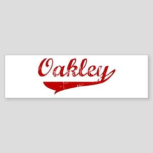 Oakley (red vintage) Bumper Sticker