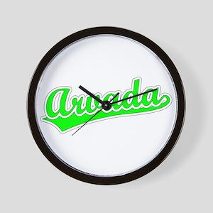 Retro Arvada (Green) Wall Clock