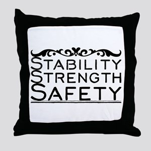 Stability Strength Safety Throw Pillow