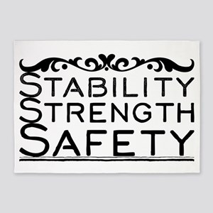 Stability Strength Safety 5'x7'Area Rug