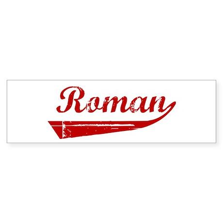 Roman (red vintage) Bumper Sticker