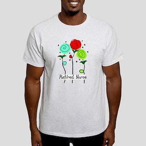 Retired Nurse Floral Women's Cap Sleeve T-Shirt