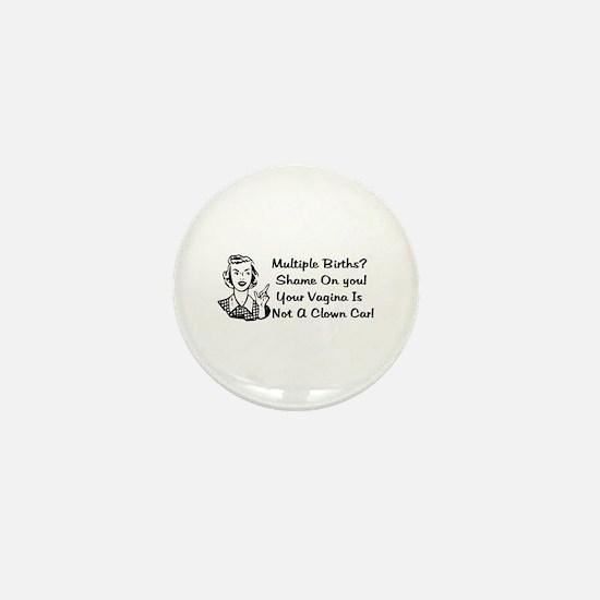 Clown Car Vagina Mini Button