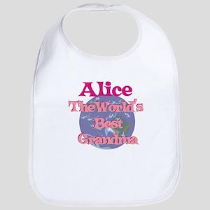Alice - Best Grandma in the W Bib