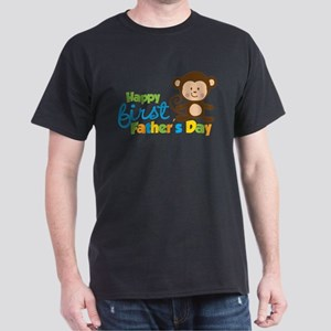 Boy Monkey Happy 1st Fathers Day T-Shirt