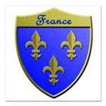 France Metallic Shield Square Car Magnet 3
