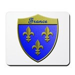 France Metallic Shield Mousepad