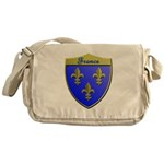 France Metallic Shield Messenger Bag