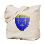 France Metallic Shield Tote Bag