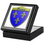 France Metallic Shield Keepsake Box