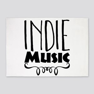 Indie Music 5'x7'Area Rug