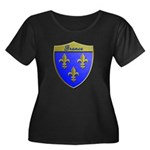 France Metallic Shield Plus Size T-Shirt