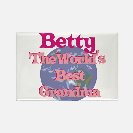 Betty - Best Grandma in the W Rectangle Magnet