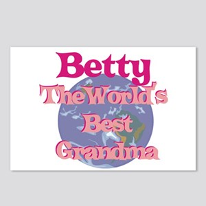 Betty - Best Grandma in the W Postcards (Package o