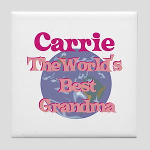 Carrie - Best Grandma in the Tile Coaster