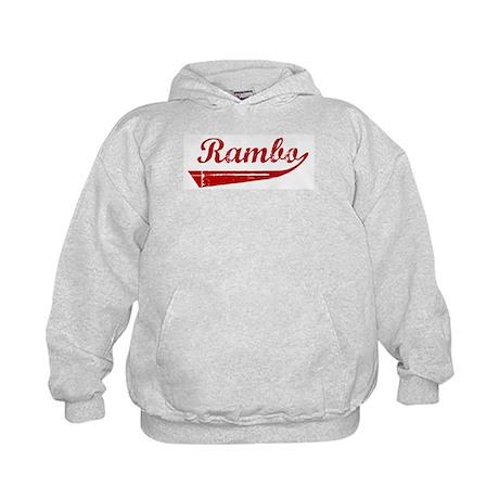 Rambo (red vintage) Kids Hoodie