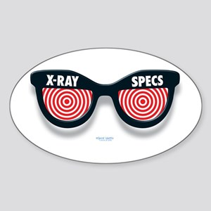 X-Ray Specs Oval Sticker