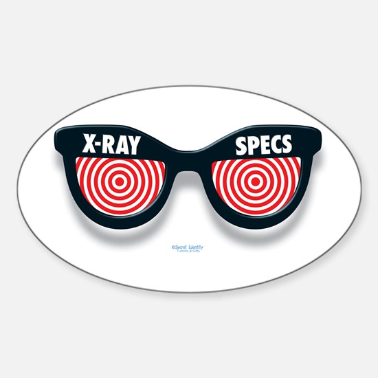 X-Ray Specs Oval Decal