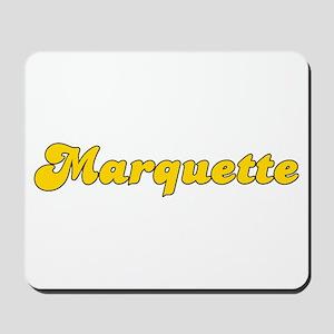 Retro Marquette (Gold) Mousepad