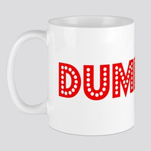 Retro Dumbass (Red) Mug