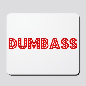 Retro Dumbass (Red) Mousepad