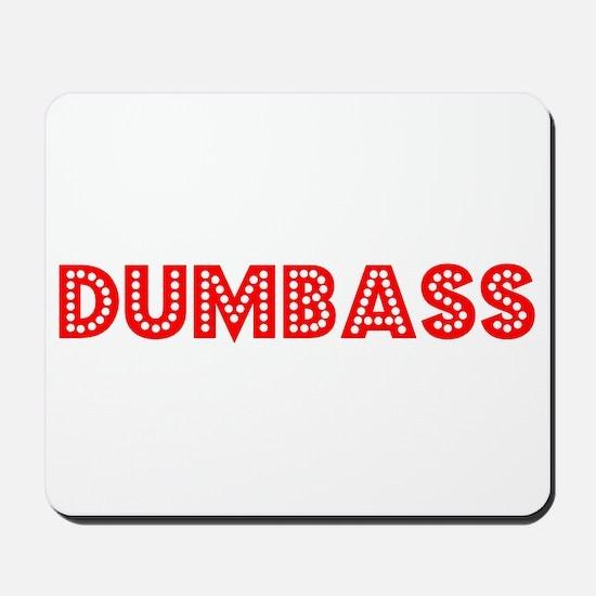 Retro Dumbass (Red) Mousepad