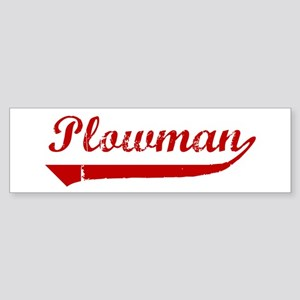 Plowman (red vintage) Bumper Sticker