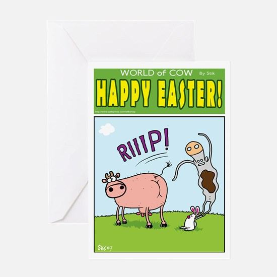 Evil Easter Bunny Greeting Card