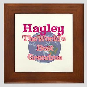 Hayley - Best Grandma in the Framed Tile