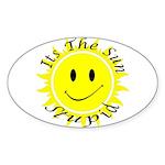 Its the Sun Stupid Oval Sticker