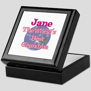Jane - Best Grandma in the Wo Keepsake Box