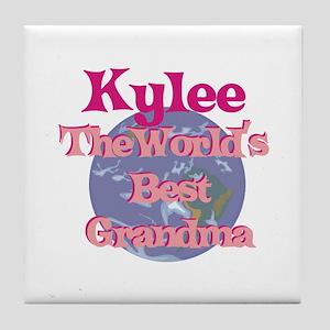 Kylee - Best Grandma in the W Tile Coaster