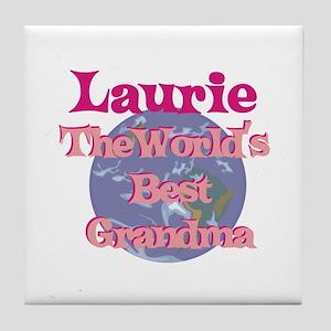 Laurie - Best Grandma in the Tile Coaster