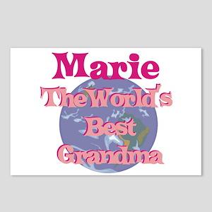 Marie - Best Grandma in the W Postcards (Package o