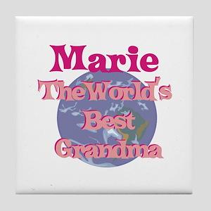 Marie - Best Grandma in the W Tile Coaster