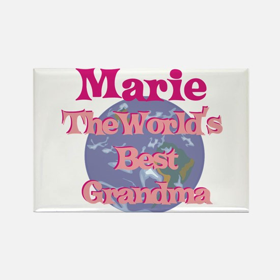 Marie - Best Grandma in the W Rectangle Magnet