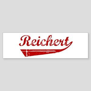Reichert (red vintage) Bumper Sticker