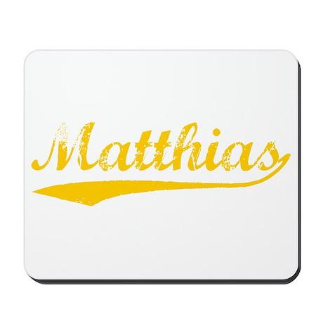 Vintage Matthias (Orange) Mousepad