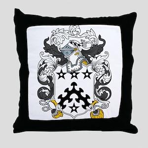 Davis Family Crest Throw Pillow