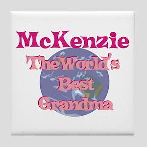 Mckenzie - Best Grandma in th Tile Coaster
